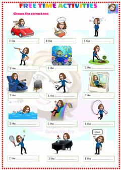 Ficha interactiva Grade 4-Unit 4-Free time activities