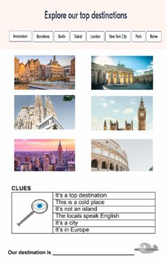 Interactive worksheet Our trip
