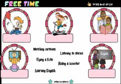 Interactive worksheet Free Time Activities (Drag and drop)
