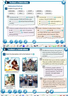 Interactive worksheet 3a Festivals and celebrations