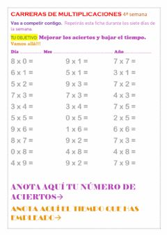 Interactive worksheet Repaso de tablas