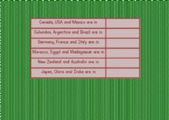 Ficha interactiva Countries - Continents