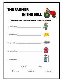 Interactive worksheet The Farmer in the Dell
