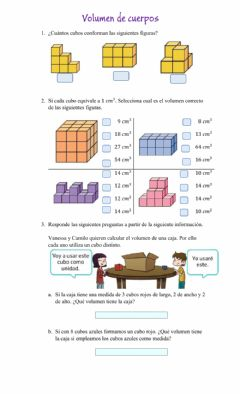 Interactive worksheet Volumen de solidos