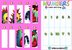 Interactive worksheet Numbers Puzzle (1-10)