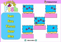 Interactive worksheet Counting Fish (Numbers)