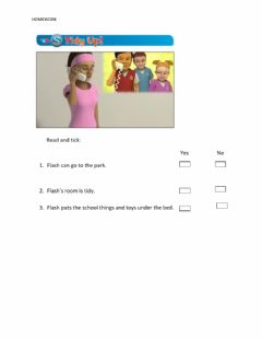 Interactive worksheet Tidy up!