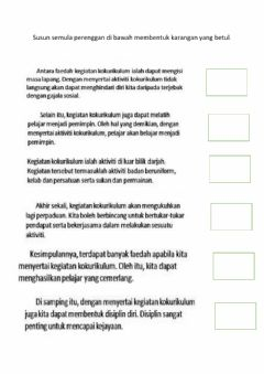Interactive worksheet Menyusun perenggan