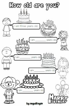 Interactive worksheet 2.4. Numbers - How old are you?