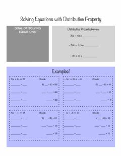 Interactive worksheet Solving Equations with Distributive Property Notes (algebra)