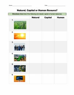 Interactive worksheet Natural, Capital or Human Resource?