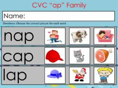Interactive worksheet Cvc