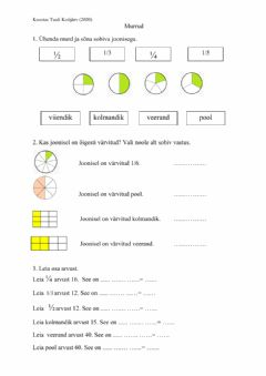 Interactive worksheet Murrud (3.klass)