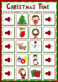 Ficha interactiva Christmas vocabulary - drag and drop