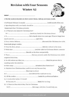 Interactive worksheet Egzamin ósmoklasisty - Revision with Four Seasons - Winter