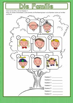 Interactive worksheet Familie 01