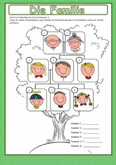 Interactive worksheet Familie 02