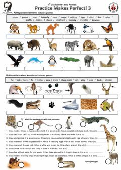 Interactive worksheet Wild Animals 2
