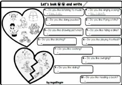 Interactive worksheet 4.4. Free Time Activities - Do You Like...?
