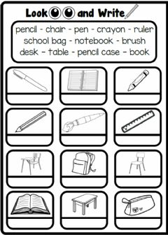 Interactive worksheet 2.4. Numbers - Classroom Objects
