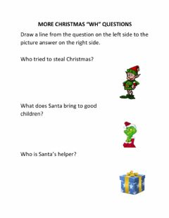 Interactive worksheet More Christmas WH Questions