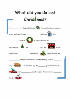 Interactive worksheet Christmas - past simple