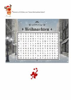 Interactive worksheet Weihnachten -Wortquadrat