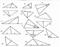 Interactive worksheet Altitudes, Medians and Angle Bisectors of a Triangle