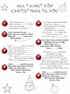 Interactive worksheet All I want for X-mas is you!