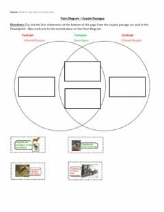 Interactive worksheet Compare and Contrast Coyote Passages