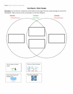Interactive worksheet Compare and Contrast Water Passages