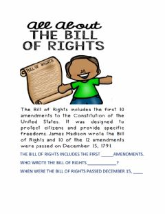Interactive worksheet The bill of rights