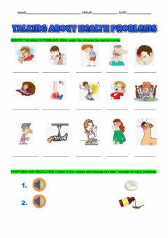 Interactive worksheet At the doctor's