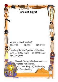 Interactive worksheet Ancient egypt