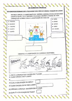 Interactive worksheet Numeros ordinais