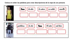Interactive worksheet Describir la ropa de una persona