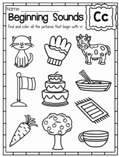 Interactive worksheet Letter Cc
