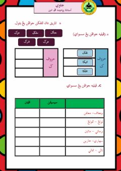 Interactive worksheet Jawi 3