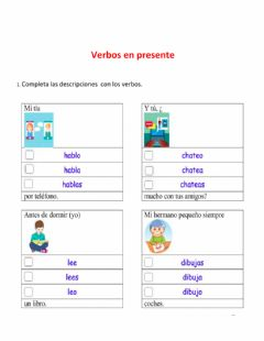 Interactive worksheet Verbos en presente
