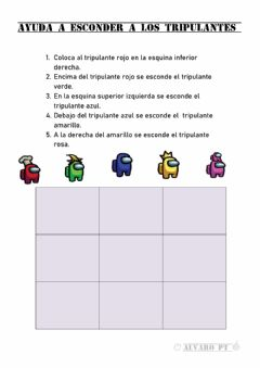 Interactive worksheet Instrucciones among us