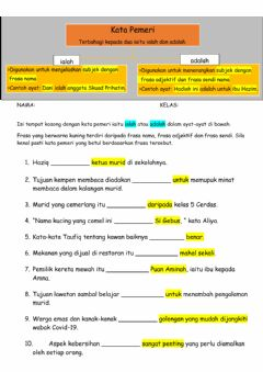 Interactive worksheet Kata pemeri