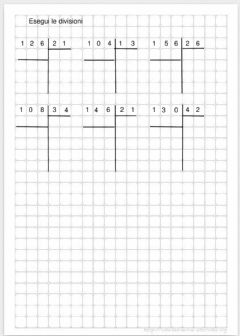 Interactive worksheet Divisioni a due cifre con tabella moltiplicative