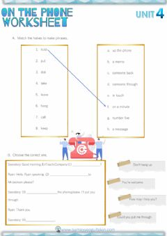 Interactive worksheet 8.4 On The Phone