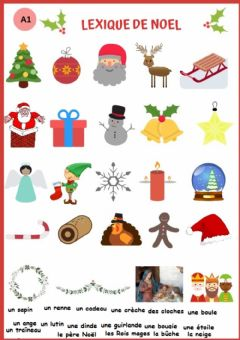 Interactive worksheet Vocabulaire de Noël