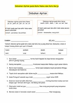 Interactive worksheet Imbuhan apitan