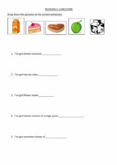Interactive worksheet Lunchtime