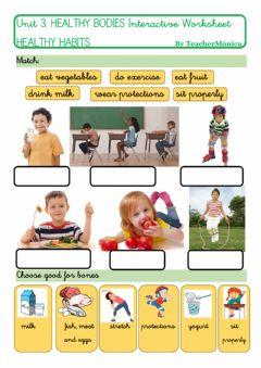 Interactive worksheet Healthy bones and muscles