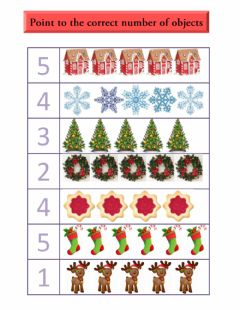 Ficha interactiva Christmas count and point