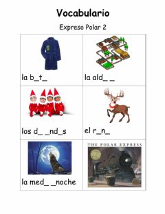 Ficha interactiva Vocabulario El Expreso Polar 2