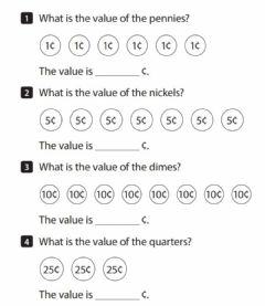 Interactive worksheet Counting Like Coins